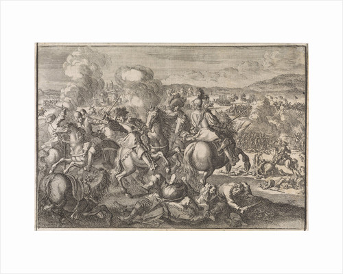 Death of King Gustavus Adolphus of Sweden at the Battle of Lutzen, southwest of Leipzig by Johann David Zunnern