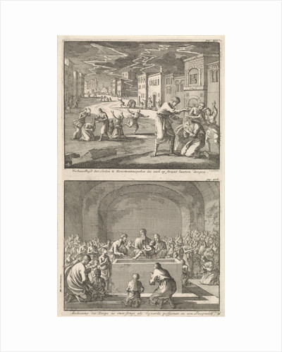 Residents of Constantinople to be baptized in the street and the baptism of elderly and young people in the church by Jacobus van Hardenberg