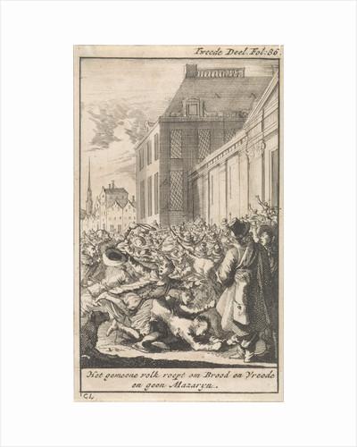Protest of the population against Cardinal Mazarin by Boudewijn van der Aa