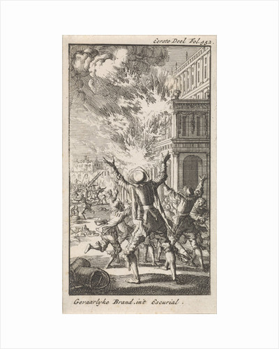 Fire in the Escorial, The Royal Site of San Lorenzo de El Escorial by Anonymous