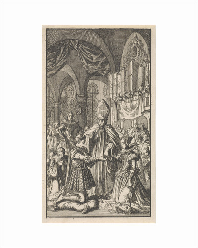 Marriage between Crown Prince Philip and Maria of Portugal by Jan Luyken