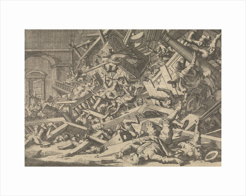 Collapsed gallery during a Catholic worship in the house of the Spanish ambassador in London, 1623 by Pieter van der Aa I