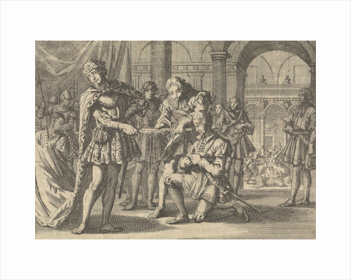 Fear of James I, King of England, for a sword at the knighting of Kenelm Digby, ca. 1623 by Anonymous