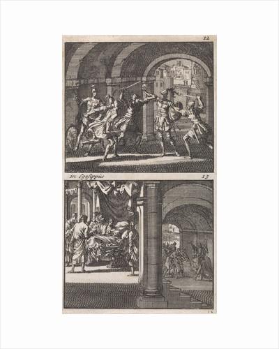 Antigonus is slain at the command of his brother Aristobulus, Death of the king Aristobulus by Andries van Damme