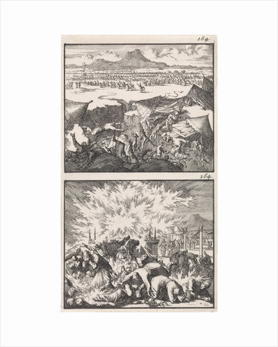 Dathan and Abiram and their families swallowed by the earth, Destruction of the tribe of Korah by Andries van Damme