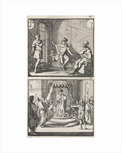 Joseph interprets dreams in jail by Andries van Damme