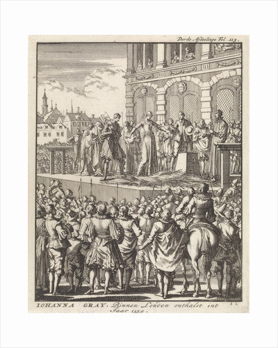 Decapitation of Lady Jane Grey, London, 1554 by Jan Claesz ten Hoorn