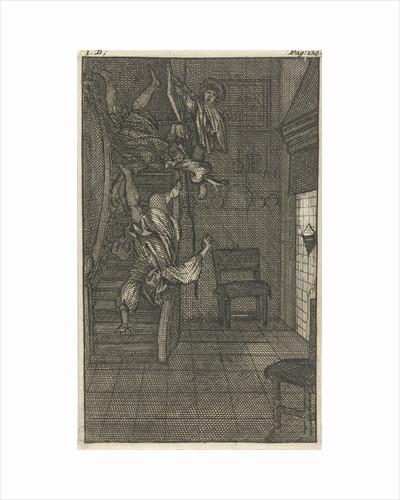 Mirandor's mistress, the Marquise, discovers her lover by Pieter van Rijschooten
