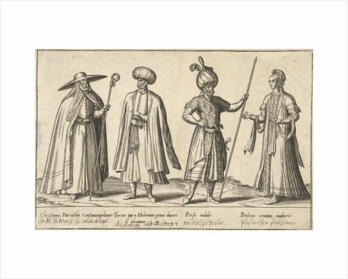 Dress of Ottomans and Persians around 1580 by Joos de Bosscher