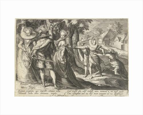 Poverty follows Wealth by Cornelius Schonaeus