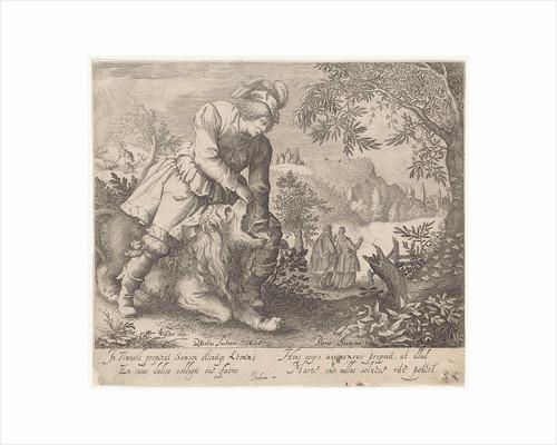 Samson and the lion by Richard Lubbaeus