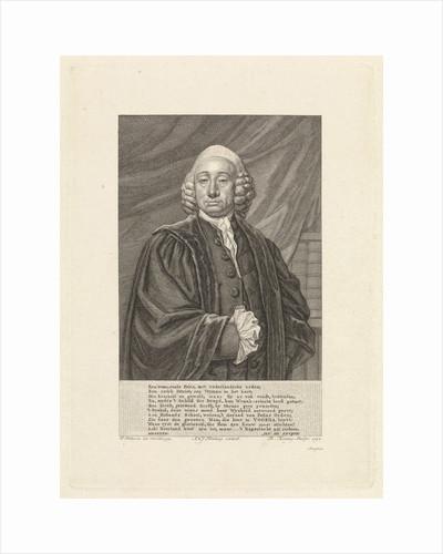 Portrait of Bavius Voorda, Theodoor Koning by Jan Honkoop