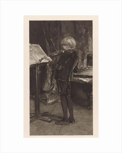 Young violin player by Willem Steelink I