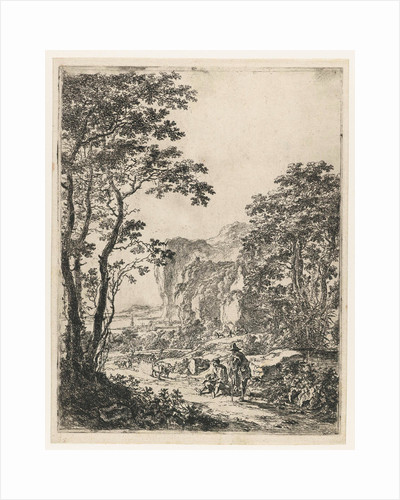 Landscape with a bullock cart, view between Ancona and Senigallia, Italy by Jan Both