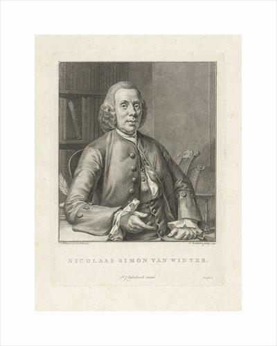 Portrait of Nicholas Simon Winter by Pieter Johannes Uylenbroek