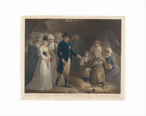 George III visited with his family the Dorchester prison by Charles Howard Hodges