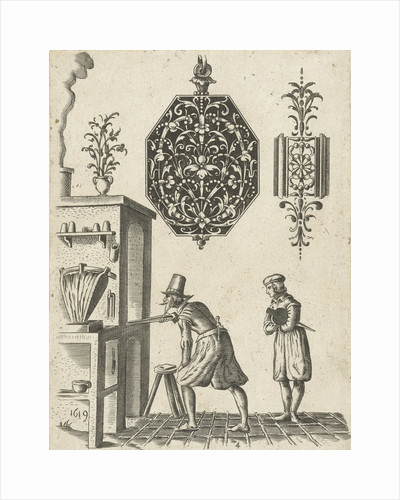 Two jeweler ornaments by Anonymous