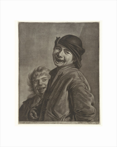 Two laughing boys by Pieter Louw