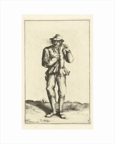 Peasant smokes pipe by Anonymous