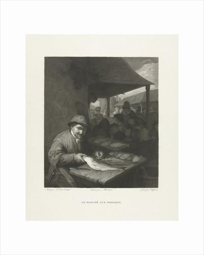 Fish seller on the market by Lambertus Antonius Claessens