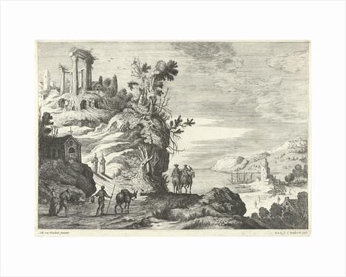 Italian landscape with a ruin by Cornelis Danckerts I