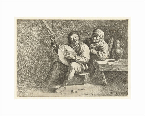 Lute Player and old woman by Cornelis Pietersz. Bega