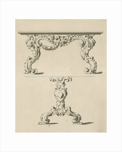 Console table and table leg in auricular style by Nicolaes Visscher I