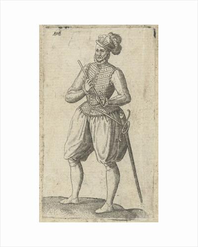 A soldier flutist by Abraham de Bruyn