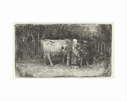 Girl with the cows by Anton Mauve