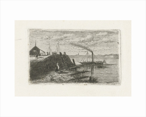 River View with a steamer by Joseph Hartogensis
