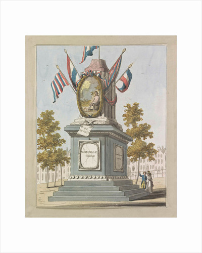 Revolution, decorations on the Place Royale, 1795 by Johannes Roelof Poster