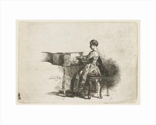Girl at the Piano by David Bles