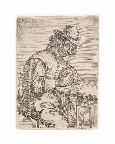 A drawing man wearing a hat by Peter Snijers