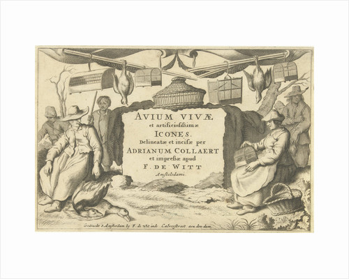 Title print with bird catchers and bird sellers by Anonymous