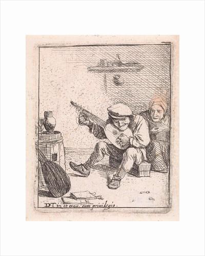 Farmer plays the lute by David Teniers II