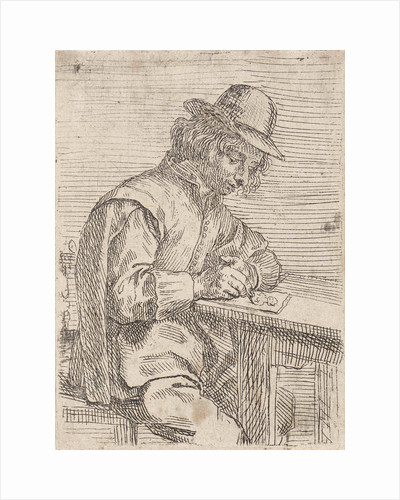 Drawing man wearing a hat by Peter Snijers
