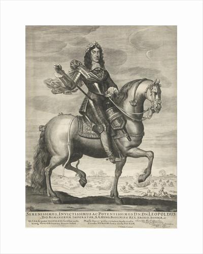 Portrait of Leopold I, Emperor of Germany, on horseback by Wallerant Vaillant