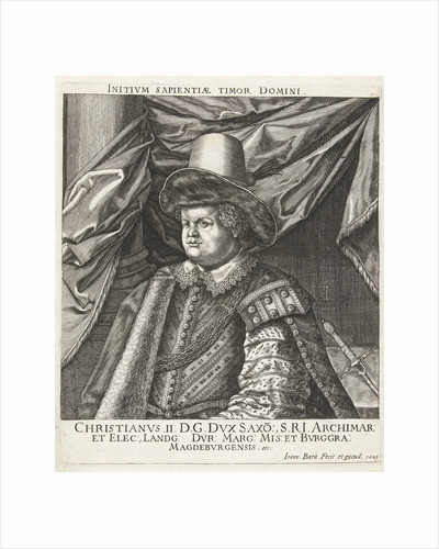 Portrait of Christian II, Elector of Saxony by Johan Barra
