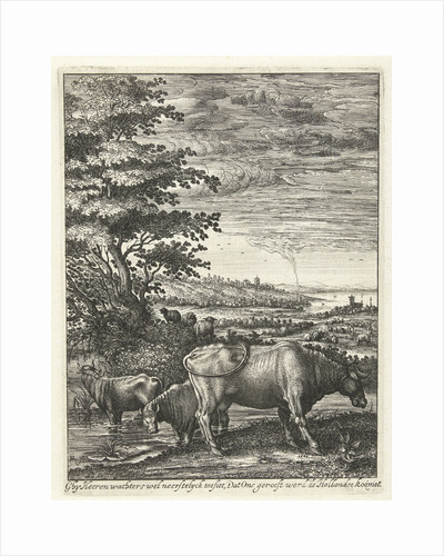 Cows in a landscape by Hendrick Hondius I