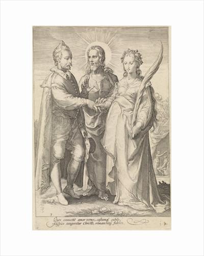 Marriage of spiritual love through Christ closed by Cornelius Schonaeus