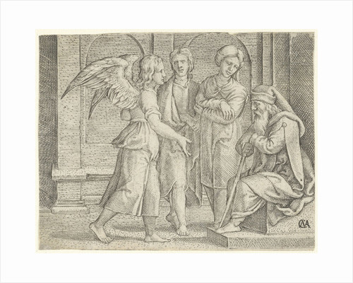 Tobias and the Angel with Tobit and Anna by Cornelis Massijs