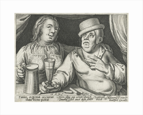 Drinking man and woman by Assuerus van Londerseel