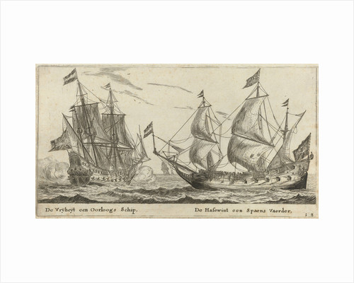 The ships Freedom and The Greyhound by Cornelis Danckerts I