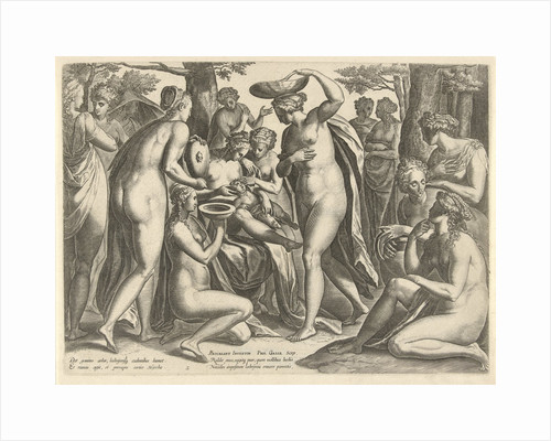 Education of Adonis by Philips Galle