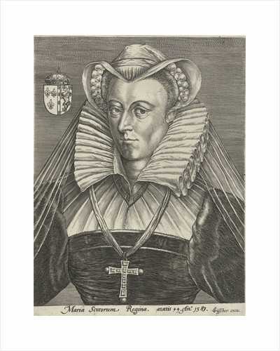Portrait of Queen Mary I Stuart of Scotland by Claes Jansz. Visscher II
