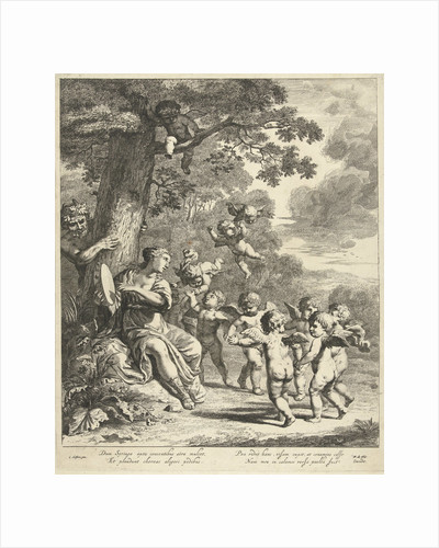 Pan and Syrinx with dancing putti by Frederik de Wit