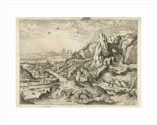 Abraham and Isaac on the road to the place of sacrifice by Matthys Cock