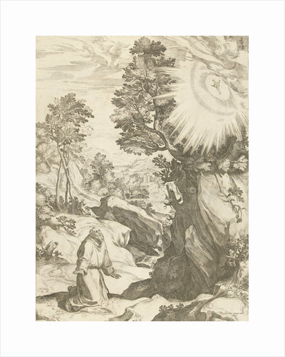 Landscape with vision of St. Francis of Assisi by Carlo Losi