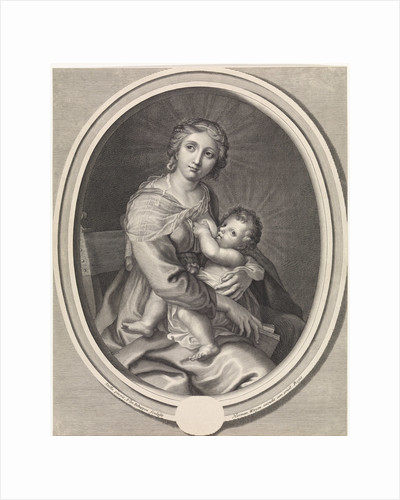 Mary gives the Christ Child breast feeding by Hermann Weyen