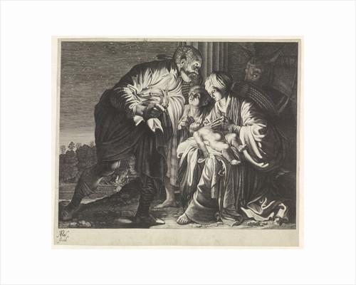 Angel warns Joseph to flee to Egypt by Adam Elsheimer
